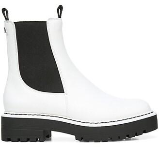 Sam Edelman Laguna Lug-Sole Leather Combat Boots