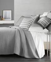 Hotel Collection Linen Plaid Quilted King Coverlet