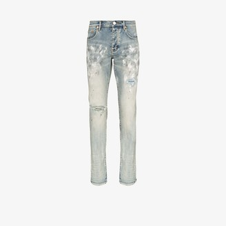 Purple Brand Paint Blowout Slim Fit Jeans