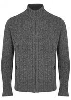 Corneliani Grey Wool And Cashmere Blend Cardigan