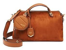 eac6fc7ed4d0 Fendi Women s Medium By The Way Suede Shoulder Bag