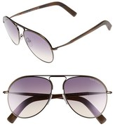 Tom Ford Men's 'Cody' 56Mm Aviator Sunglasses - Shiny Dark Brown/ Gradient