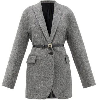 Petar Petrov Jaya Double-breasted Wool-tweed Jacket - Grey