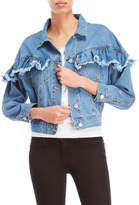 Love Tree Ruffle Denim Jacket