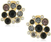 Anne Klein Gold-Tone Jet Multi-Button Clip-On Earrings