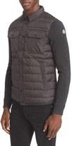 Moncler Men's Quilt Front Down Sweater Jacket