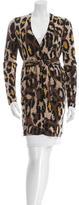 Diane von Furstenberg Leopard Printed Wool Cardigan