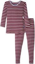 Kickee Pants Print Pajama Set (Toddler/Kid) - Tundra Stripe - 4T