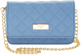 BCBGMAXAZRIA Infinity Blue Mini Quilted Crossbody Bag