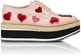 Prada Women's Heart- Appliquéd Leather Platform Espadrille Brogues