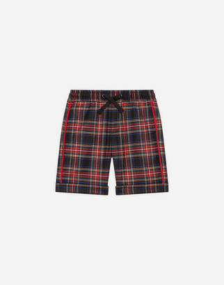 Dolce & Gabbana Tartan Shorts With Patch