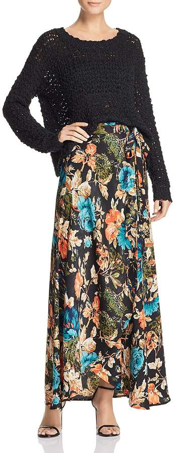 Band of Gypsies Peony Floral Maxi Skirt