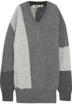 McQ Oversized Patchwork Knitted Sweater - Gray