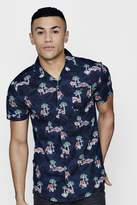 boohoo Short Sleeve Hawaiian Print Shirt