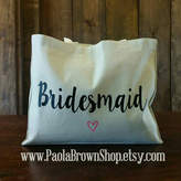 Etsy Bridesmaid Tote, Bridesmaid Gift, Bridesmaid Gift Idea, Bridesmaid Bag, Destination wedding gift, Br