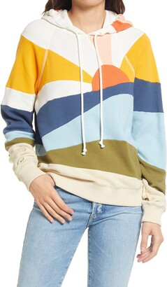 Faherty Soleil Stripe Hooded Sweatshirt