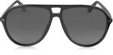 Gucci GG0119S 006 Black Acetate Aviator Men's Polarized Sunglasses