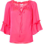 Milly tie neck blouse