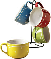 Tabletops Unlimited Polka Dot 5-pc. Coffee Mug