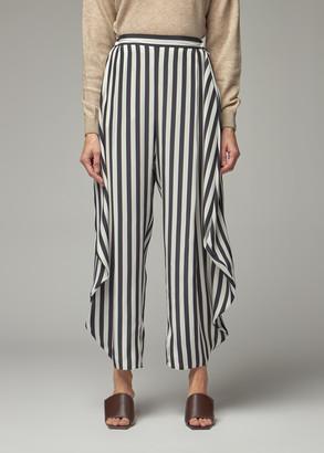 Stella McCartney Women's Alicia Striped Trouser Pants in Black Size 36
