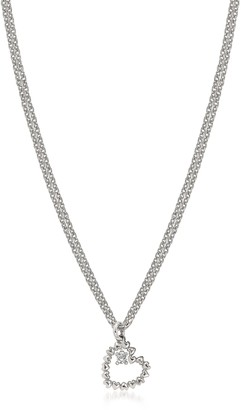 Nomination Sterling Silver and Cubic Zirconia Heart Charm Necklace