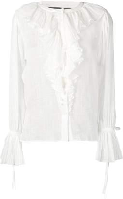 Alberta Ferretti ruffled blouse