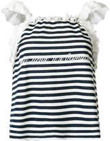 Natasha Zinko frill sleeve striped top