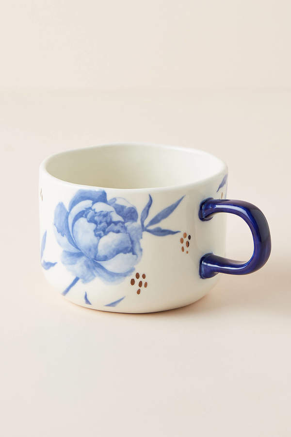 Tile Tile Testo Azure Mugs, Set of 4