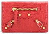 Balenciaga Classic Card Case Leather Wallet