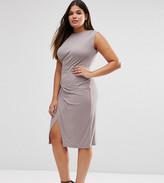 Asos Midi Dress With Drape Side
