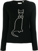 Chinti and Parker cashmere cat outline sweater