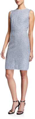 Kate Spade Sleeveless Tinsel Tweed Sheath Dress