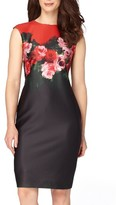 Tahari Women's Floral Print Sheath Dress