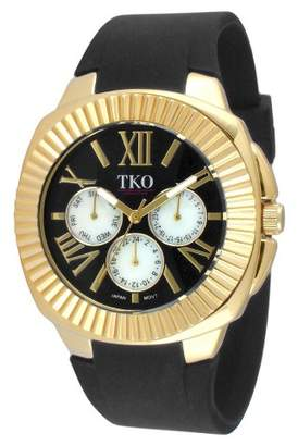 TKO Orlogi Women's TKO Multiple Function Rubber Strap Watch - Black