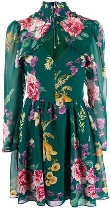 Keepsake Cape-Style Floral Pint Dress