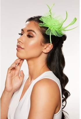 Quiz Neon Green Small Jewel Fascinator