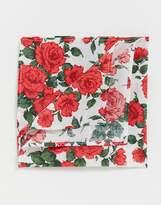 Gianni Feraud libery print carline rose pocket square