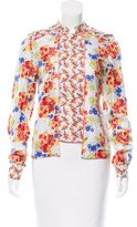 Suno Silk Floral Top