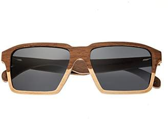 Earth Wood Piha Sunglasses W/Polarized Lenses - Walnut-Bamboo/Black