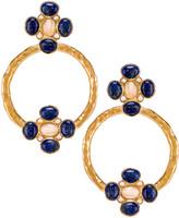 Christie Nicolaides Cruz Earrings in Blue | FWRD