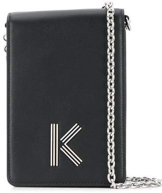 Kenzo leather K motif cross-body bag