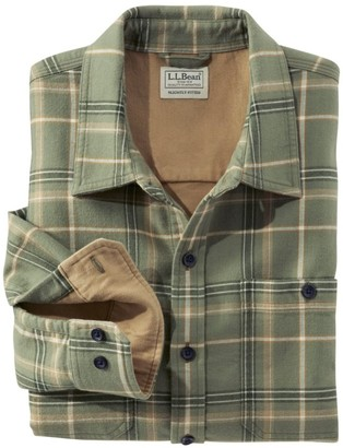 L.L. Bean L.L.Bean Men's Wicked Warm Shirt, Long Sleeve, Slightly Fitted Plaid