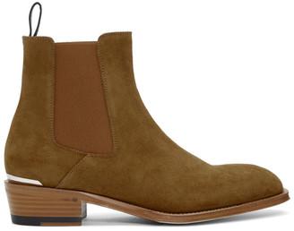 Alexander McQueen Tan Suede Chelsea Boots