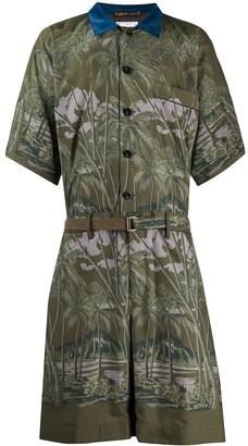 Sacai Foliage Print Suit