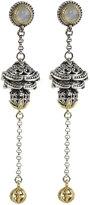 Konstantino Erato Ornate Bulb & Chain Labradorite Dangle Earrings