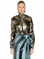 J.W.Anderson Printed Silk Lurex Shirt With Scarf