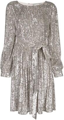 Sachin + Babi Tie Waist Glitter Dress
