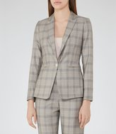 Reiss Webb Jacket - Heritage-check Blazer in Black, Womens