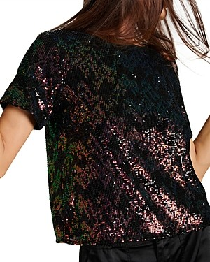 Sanctuary The Glimmer Sequined Top