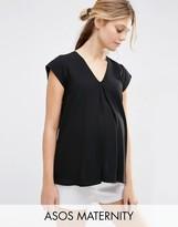 Asos V- Neck Origami T-Shirt